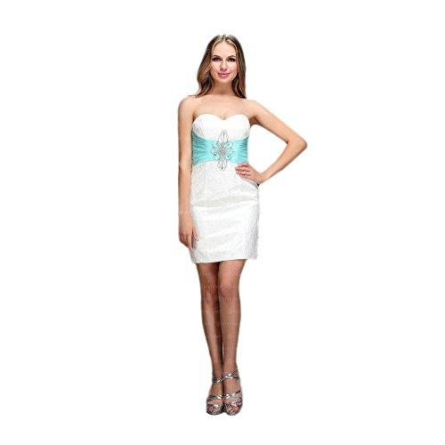 Design bei Kleid Weiß Für Festamo Ital Damen Cocktail 5wYAxnqpI