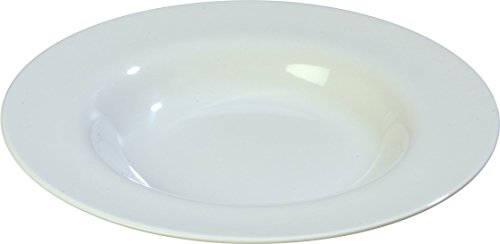 Carlisle 3303002 Sierrus Melamine Soup / Salad Bowls, 20-oz., White  (Set of 12) ()