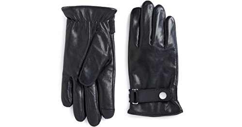 (Polo Ralph Lauren Men's Winter Leather Gloves Driving Touch Technology M)