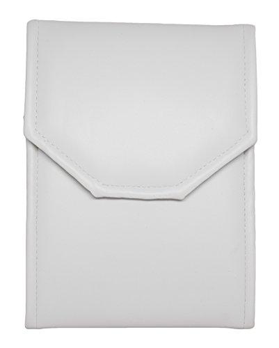 Omega Pearl Ring (Novel Box® Premium Large White/White Stitched Leatherette Pearl / Omega Necklace Folder + Custom NB Pouch)