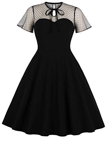 KILOLONE Plus Size Dresses for Women 1950s Cocktail Dress Party Vintage Retro Bridesmaid Evening Lace Dress