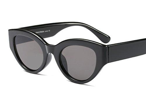 Freckles Mark Plastic Oval Sunglasses for Men Vintage Mod Retro Rapper Style (Black, - Shaped Frames Oval