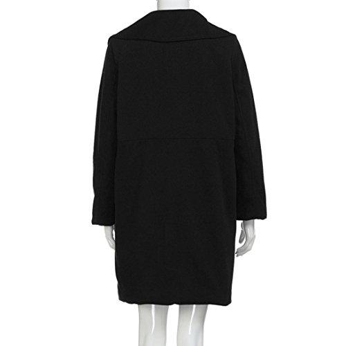 Largos Oversize XL Bolsillos Abrigos Grandes K Outcoat Mujer Negro Rompevientos Elegantes Suelto De youth® Tallas Señora Fiesta Originales Chaquetas nYv4qUZ4