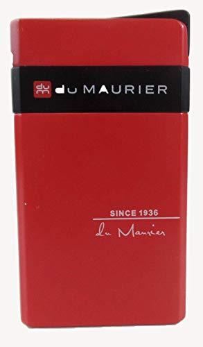 Du Advertising Cigarette Lighter, Refill Windproof, Slender Upright Butane Enamel ()