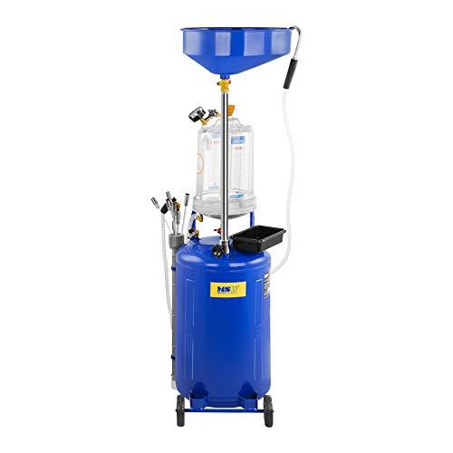MSW Aspirador De Aceite Con Tanque De 75 L MSW-OBG80D (Temperatura Del Aceite Entre 40 y 60 °C, 9 Bar, Ruedas Delanteras Móviles En PVC): Amazon.es: ...
