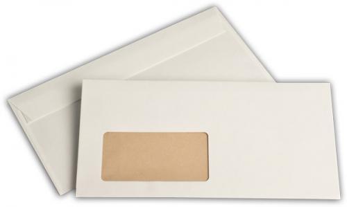 100 buste per lettera con finestra, 'Natura' = colore bianco antico, bianco perlato, bianco crema, 220 x 110 mm, strip adesivo, stampato all'interno in marrone Natura = colore bianco antico stampato all' interno in marrone umschlag-discount OT-51845