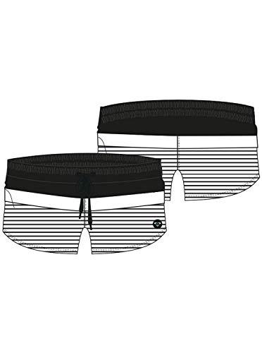 Roxy Junior's Beach Classics 5 Inch Boardshort, Anthracite Sample Marina Stripes, M