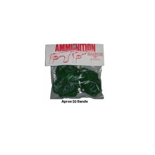 Magnum 12 Rubber Band Gun Ammo Pistol Ammo - Green - Size 30 - 1-oz. Bag Rubber Band Gun Ammo