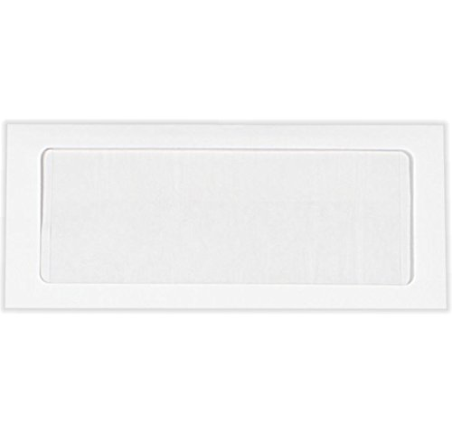 #10 Full Face Window Envelopes (4 1/8 x 9 1/2) - 28lb. Bright White (50 Qty.) Envelopes.com
