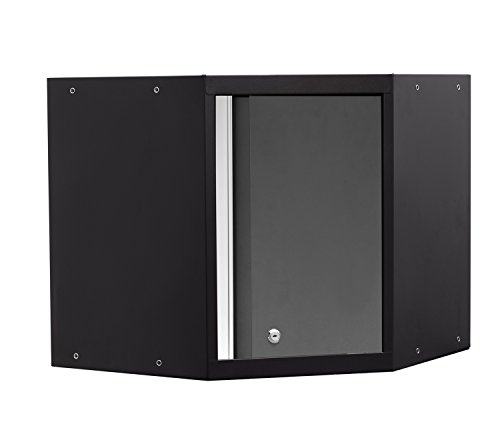 newage products pro 30 series corner wall cabinet gray