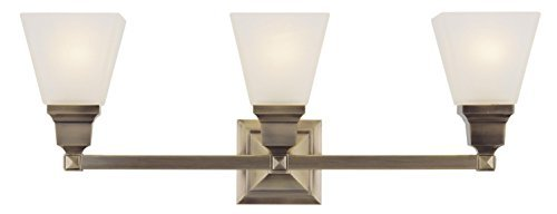 Livex Lighting 1033-01 Mission 3-Light Bath Light, Antique Brass by Livex Lighting - Mission Bath Light
