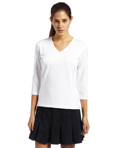 Bollé Women's Essential 3/4 Sleeve Tennis Top, White, (Sleeve Tennis Shirt)