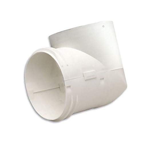 4 90 Degree Dryer Vent 2 Piece Connector Is Made of Polypropylene Containing a Fire Retardant Additive Standard for Flame Resistance Allows for Easy Attachment to the Duct ()