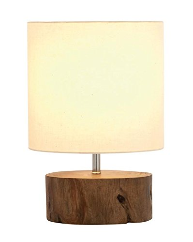 Mahogany Log Base Table Lamp