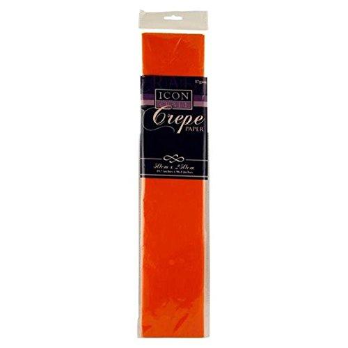 Premier Stationery Icon Craft Carta crespa da 50 x 250 cm, 17 g/m², colore arancione S7177724