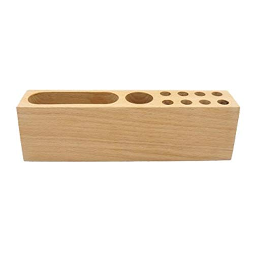 SODIAL Wooden Beech Card Holder Cell Phone Business Card Storage Box Desktop Pen Holder Office Table Top Storage Box by SODIAL (Image #6)