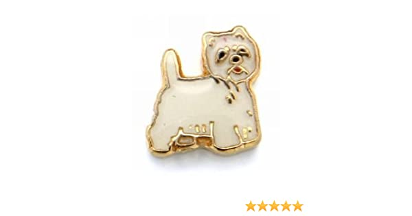 41ec179fb Amazon.com: Westie Dog Floating Charm for Heart Lockets: Origami Owl  Lockets: Jewelry