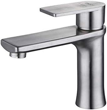 CLJ-LJ バスルームのシンクは盆地シンクホットコールドタップミキサー盆地ハイエンド家庭の蛇口は304ステンレス鋼浴室キャビネット洗面台盆地ホットとコールド単穴の蛇口をキャストスロット付きバスルームをタップ