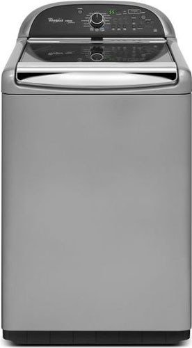 Whirlpool WTW8900BC 4.8 Cu. Ft. Chrome Shadow Top Load Washer - Energy Star