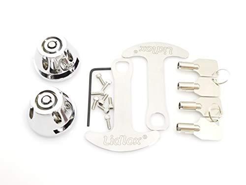 Lidlox 1032-C - Bar End Helmet Lock Pair for Kuryakyn ISO and Kinetic Grips, Chrome.