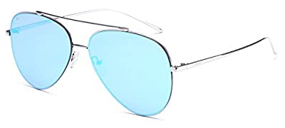 "PRIVE REVAUX ""The Aphrodite"" Handcrafted Designer Aviator Polarized Sunglasses"