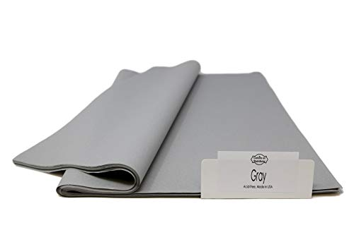 Gray Tissue Paper - 120 Sheets - 15 Inch x 20 Inch - for Gift Bags, Gift Wrapping, Flower, Party Decoration, Pom Poms - Premium Quality Made in United States