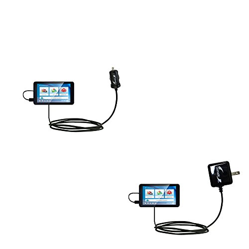 The Essential Gomadic Car and Wall Accessory Kit designed for the Rand McNally TND 740 - 12v DC Car and AC Wall Charger Solutions with TipExchange