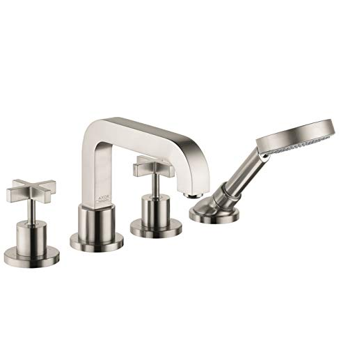 (AXOR Citterio 4-Hole Roman Tub Set Trim with Cross Handles with 1.8 GPM Handshower )