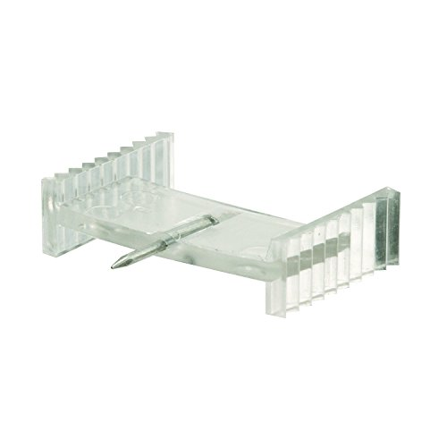 Prime-Line Products L 5802 Window Grid Retainer Clips with Steel Needle (6 Pack), Plastic/Clear, 7/8