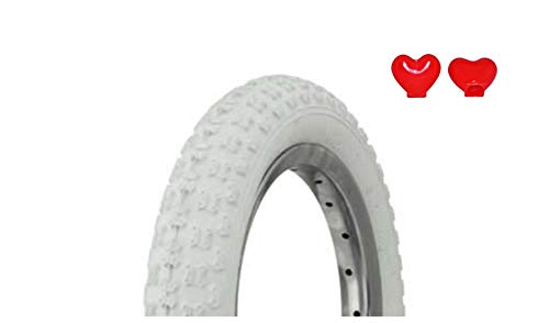 "Lowrider Tire Duro 12 1/2"" x 2 1/4"" White/White Side Wall HF-143G. Bicycle tire, bike tire, kids bike tire"
