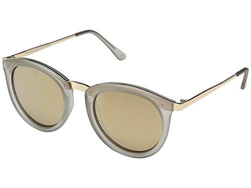 Le Specs Unisex No Smirking Mist Matte/Gold Revo Mirror Polarized - Le Mens Sunglasses Specs