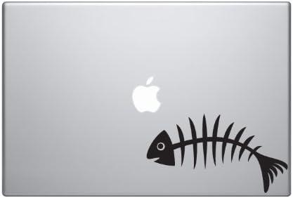 Car Tablet Vinyl Decal Fish Skeleton #1 Bones Bony Fillet Bass Fishing Art