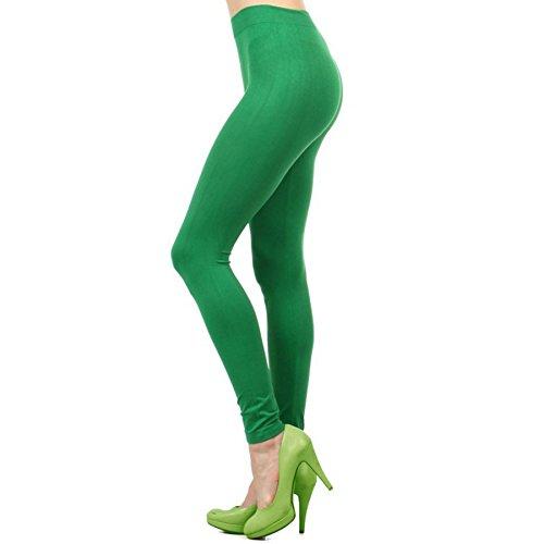 Ekimo T-USA Green Legging Seamless Stretch Full Length Basic Leggings Halloween Costumes -