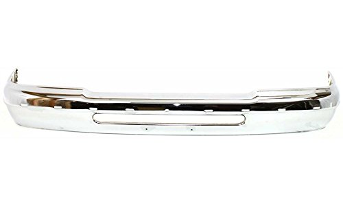 Evan-Fischer EVA17372011260 Bumper for Ford Ranger 93-97 Front Bumper Chrome w/ Molding Holes w/o Fog Light Hole Replaces Partslink# FO1002244