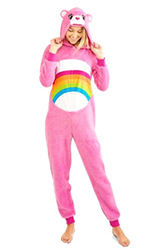Costumes Carebear (Care Bear Cheer Pink Women's Union Suit Pajama Costume (L)