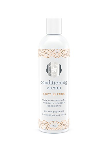 (Baja Baby Hair Conditioner Cream - EWG VERIFIED - Light Citrus Scent - Family Size With Pump - 12 fl oz - Without Sulphates, Parabens and Phosphates - Dr Approved - Tangles Be Gone)