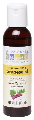 Aura Cacia Natural Skin Care Oil, Grapeseed, 4 Fluid Ounce