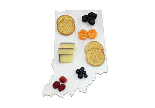 Custom Indiana Marble Cutting Board, Serving Tray, or Cheese Board- Personalized with Laser Engraving