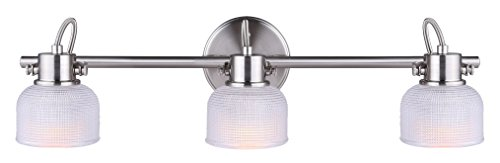CANARM IT618A03BN10 Ltd Soho 3 Light Track Rail, Brushed Nickel with Textured (Soho Nickel Three Light)