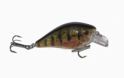 (Atko Big Bass Square Bill CrankBait-Fishing Lure Bass Walleye Striper Pike (Perfect Perch, Single))