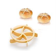 FMY Homemade Bread Rolls Mold for Bread Kaiser Line Mould Kitchen Pastry Baking Tools Kaiser Roll Maker