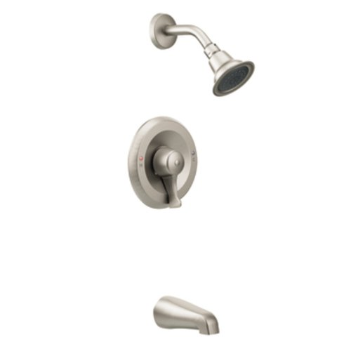 Moen T8389CBN Commercial M-Dura Posi-Temp Tub/Shower Trim, 2.5-gpm, Classic Brushed Nickel - Temp Control Shower