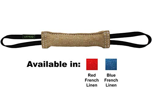 Viper Jute K9 Tug Toy Reward with One Or Two Handles for Adult Dogs and Puppies (2 Handles, 12