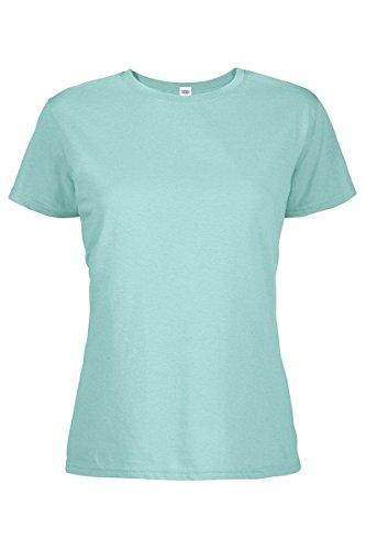 Crew Neck Short Sleeve Tee T-Shirts for Women Celadon X-Large (Crew Short Sleeve Shorts)