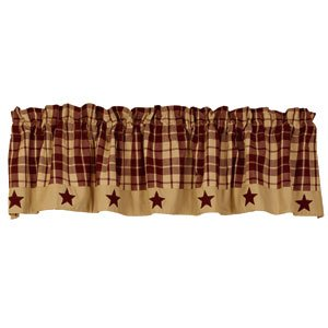 Black Farmhouse Star Valance ()