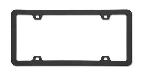 Black Metal Plate - Cruiser Accessories 15050 Neo License Plate Frame, Black
