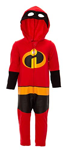 Disney Pixar The Incredibles Toddler Boy Girl Costume Coverall with Hood 3T -