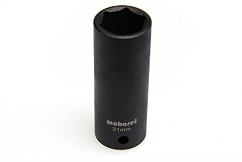 mobarel -- 12 Drive 6 Point Deep Impact Socket 21mm