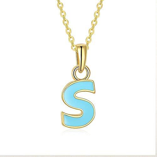 TTO Pendant Necklaces - 1pcs Letter Design Capital Initial Necklace Women Men Jewelry Gold Color Multicolor Enamel Alphabet Letter Necklace Jewelry 1 PCs