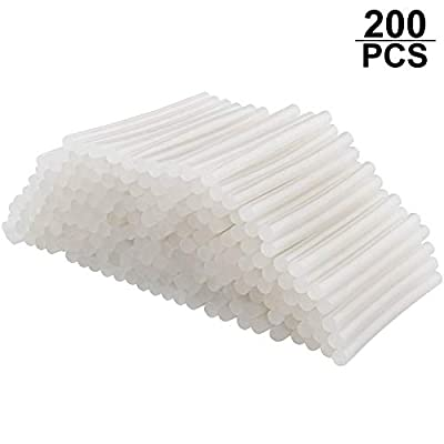 STARVAST 200 Pcs Hot Glue Sticks for Hot Melt Glue Gun, Mini Size, 0.27 Inch (7mm) Diameter, 4 Inch Length Multi-temp Glue Sticks for Kids Adults DIY Project Repairing